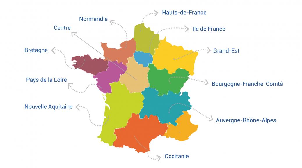 Diagnostics numériques des 10 régions de France