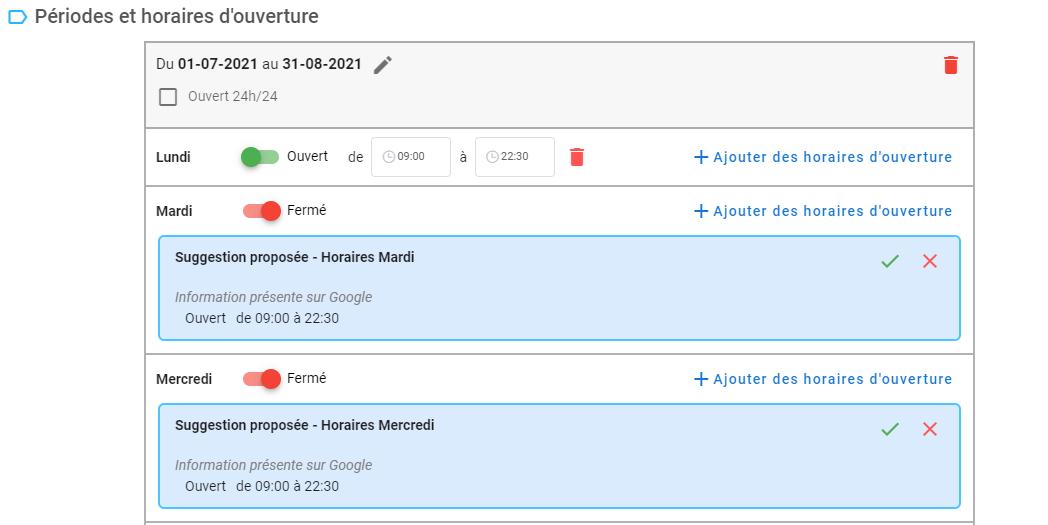 Module de suggestion d'horaires Hubo